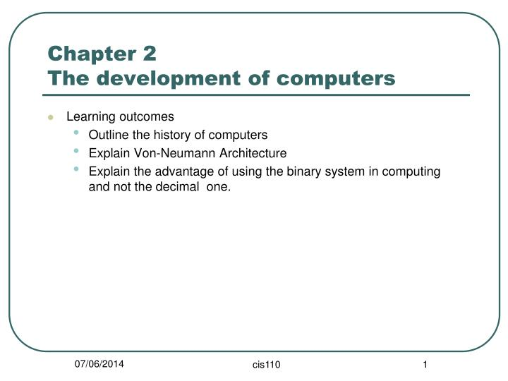 chapter 2 the development of computers n.