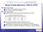 beam profile monitors yag otr