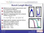 bunch length monitor