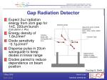 gap radiation detector