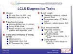 lcls diagnostics tasks