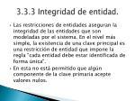 3 3 3 integridad de entidad