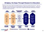 bridging the gaps through research education