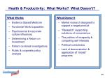 health productivity what works what doesn t