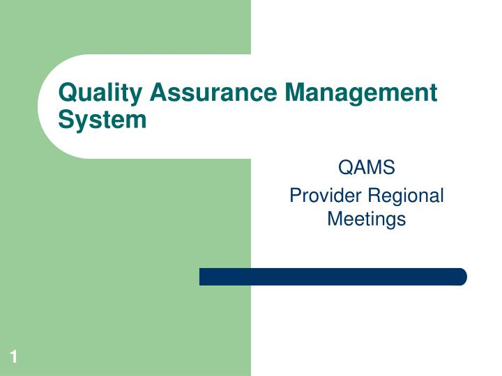 quality assurance management system n.