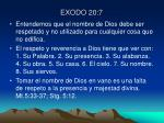 exodo 20 7