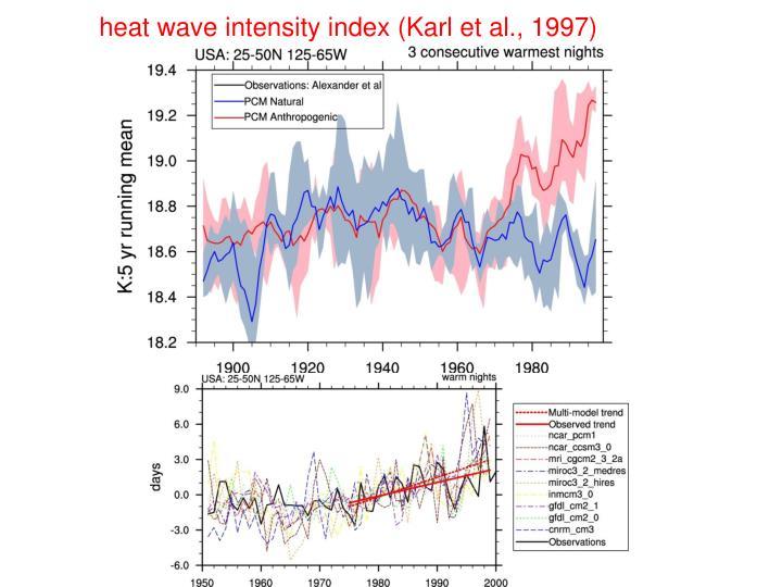 heat wave intensity index (Karl et al., 1997)