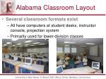 alabama classroom layout