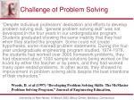 challenge of problem solving