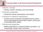 conservation and accounting framework