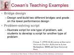 cowan s teaching examples