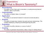 expectations what is bloom s taxonomy2