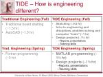 tide how is engineering different