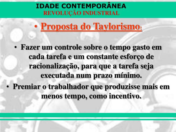 Proposta do Taylorismo