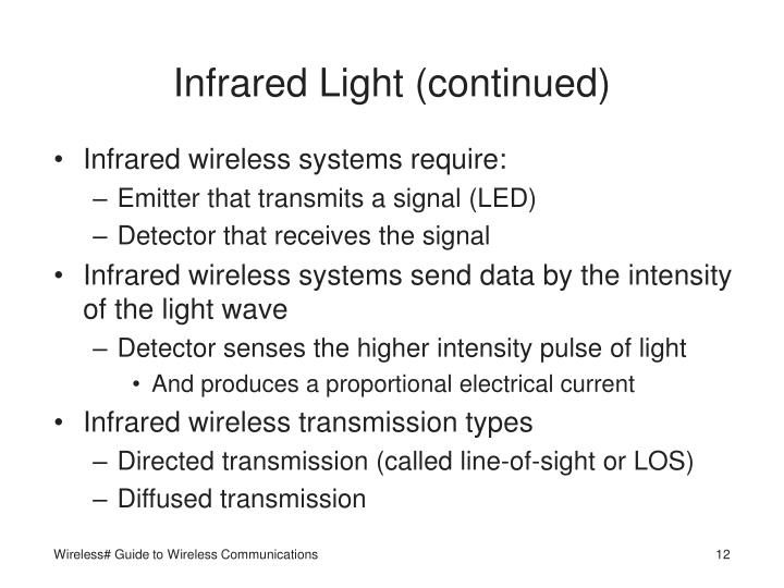 Infrared Light (continued)