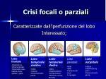 crisi focali o parziali