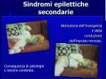 sindromi epilettiche secondarie