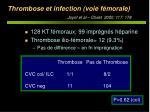 thrombose et infection voie f morale joynt et al chest 2000 117 178