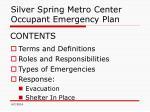 silver spring metro center occupant emergency plan