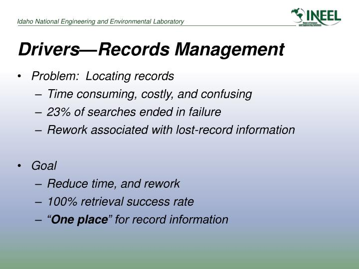 Drivers records management