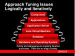 approach tuning issues logically and iteratively