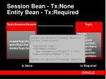 session bean tx none entity bean tx required