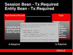 session bean tx required entity bean tx required