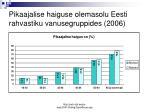 pikaajalise haiguse olemasolu eesti rahvastiku vanusegruppides 2006