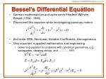 bessel s differential equation