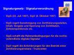 signaturgesetz signaturverordnung