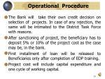 operational procedure