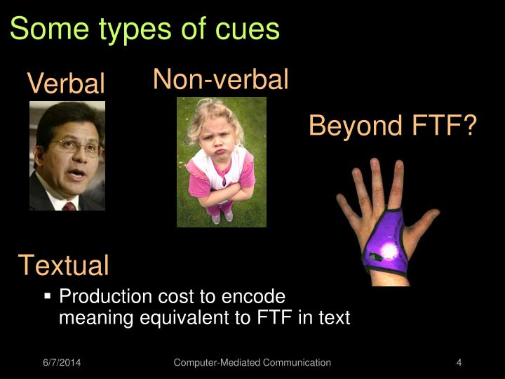 Some types of cues