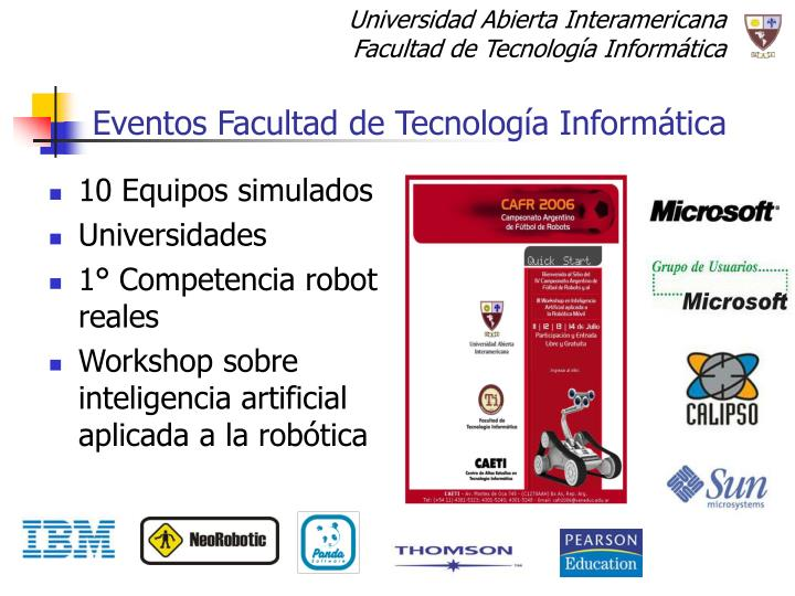 Eventos Facultad de Tecnología Informática