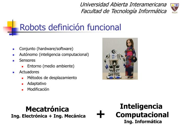 Robots definición funcional