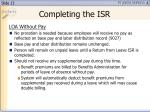 completing the isr2