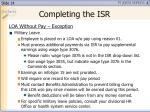 completing the isr3