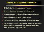 future of intranets extranets