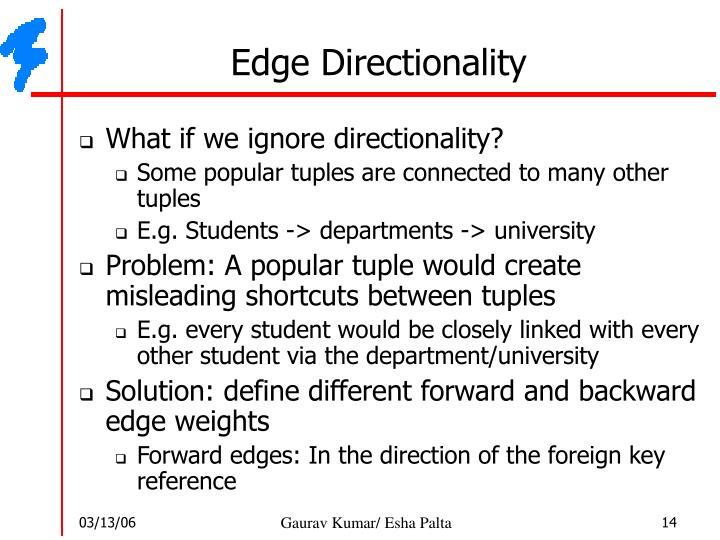 Edge Directionality