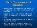 harris todaro model of migration