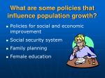what are some policies that influence population growth