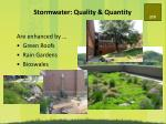 stormwater quality quantity