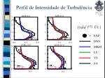 perfil de intensidade de turbul ncia