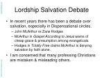 lordship salvation debate