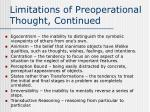 limitations of preoperational thought continued