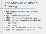 the study of children s thinking