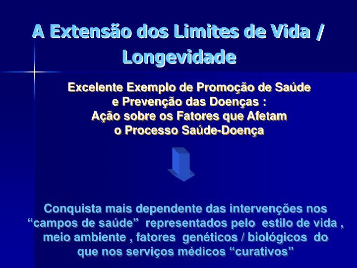 Excelente Exemplo de Promoção de Saúde                                         e Prevenção das Doenças :                                                                                        Ação sobre os Fatores que Afetam                                                         o Processo Saúde-Doença