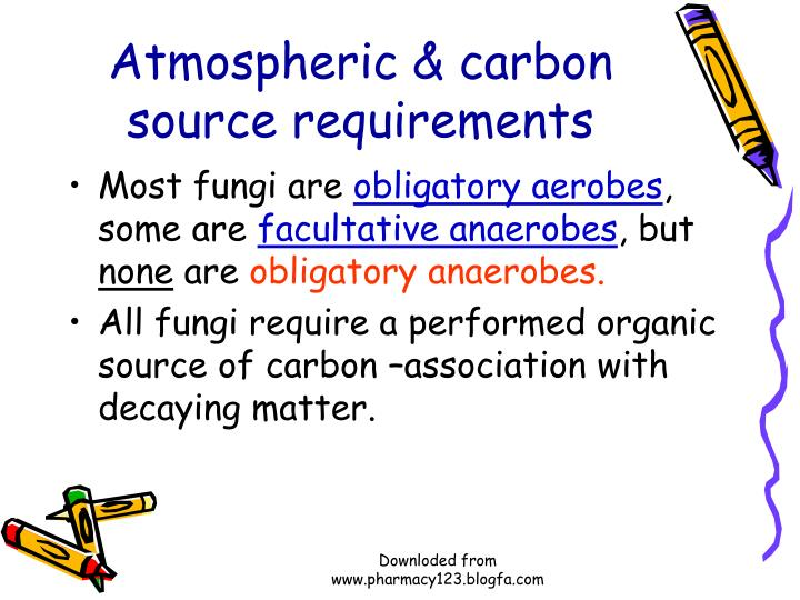 Atmospheric & carbon source requirements