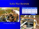 sulfur run borehole
