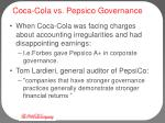 coca cola vs pepsico governance