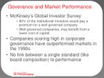 goverance and market performance